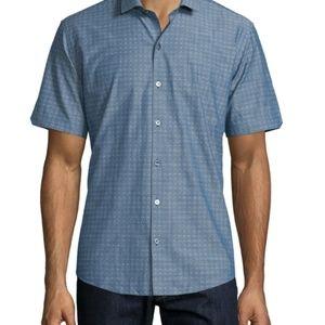 Zachary Prell 100% cotton Short Sleeve Button Down